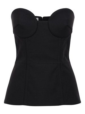 Valentino Wool & silk crepe couture corset top