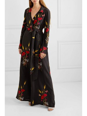 Valentino wrap-effect printed silk-georgette jumpsuit