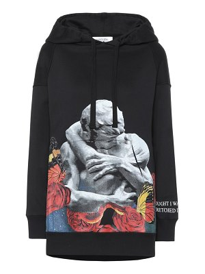 Valentino x undercover printed cotton-blend hoodie