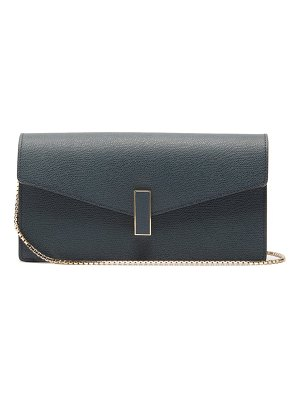 VALEXTRA iside grained leather clutch