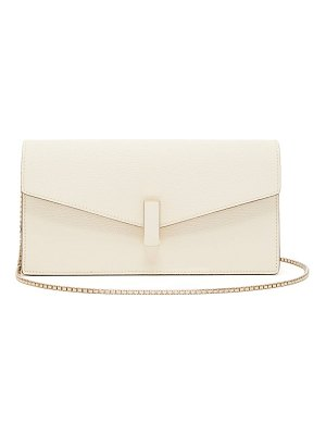 VALEXTRA iside grained-leather clutch