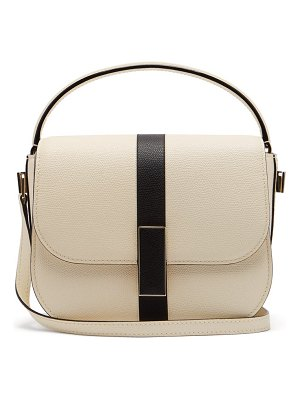 VALEXTRA iside grained leather cross body bag