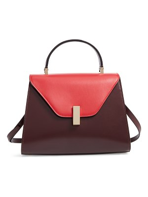 VALEXTRA iside medium colorblock leather top handle bag
