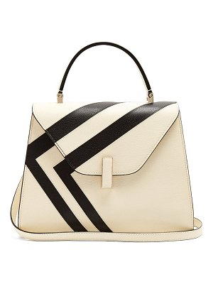 VALEXTRA iside medium striped grained-leather bag
