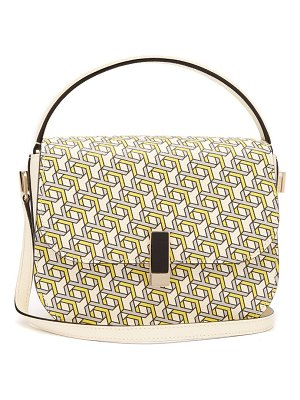 VALEXTRA iside xy-print leather cross-body bag