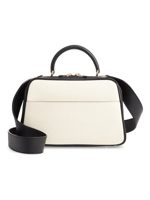 VALEXTRA medium serie s leather top handle bag