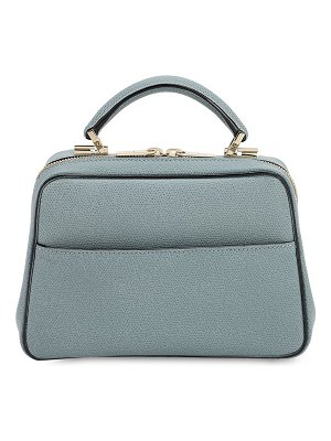 VALEXTRA Serie s grained leather top handle bag