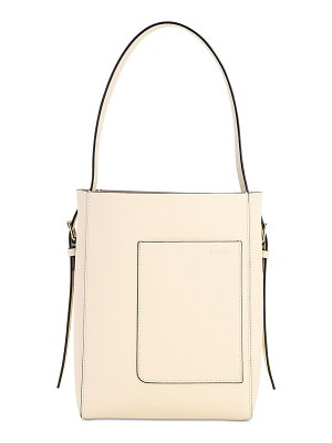 VALEXTRA Sm secchiello grained leather tote bag