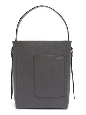 VALEXTRA small grained-leather tote bag