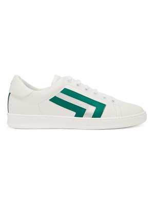 VALEXTRA super 3 striped leather trainers