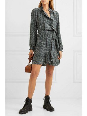 Vanessa Bruno jutta ruffled floral-print crepe wrap mini dress
