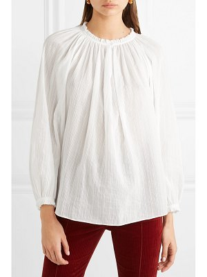 Vanessa Bruno leore ruffled embroidered cotton-voile blouse