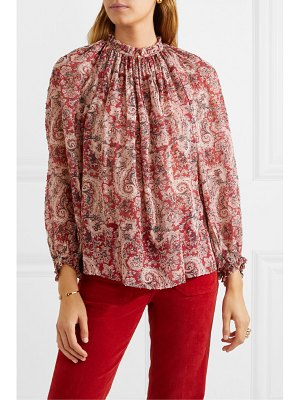 Vanessa Bruno meyer printed metallic fil coupé voile blouse