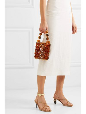 Vanina icaria acrylic and gold-plated beaded tote