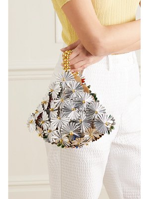 Vanina inflorescence gold-tone and canvas tote