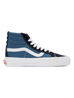 Vans blue and  og sk8-hi lx sneakers