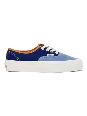 Vans blue og authentic lx sneakers