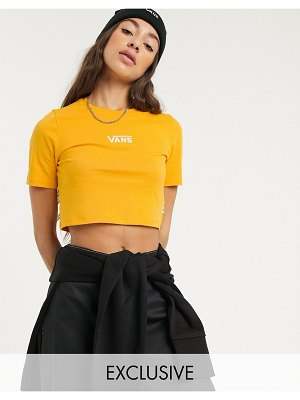 Vans drop v cropped t-shirt in yellow exclusive at asos-copper