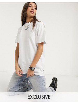 Vans oversized chest logo t-shirt in white exclusive at asos