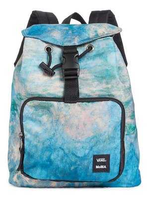 Vans x moma claude monet canvas backpack