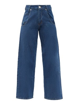 VAQUERA high-rise cropped wide-leg jeans