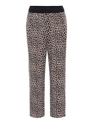 Varley catherine leopard-print trackpants