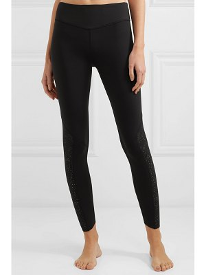Varley chester cropped perforated stretch leggings