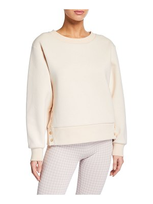 Varley Hardy Pullover Sweatshirt with Button Details
