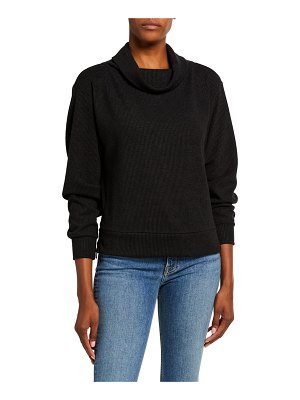 Varley Huntly Cowl-Neck Side-Zip Sweater