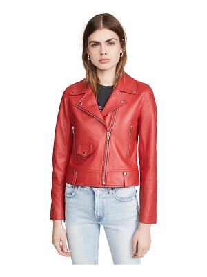 Veda mercury leather moto jacket