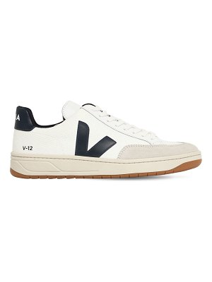 VEJA 20mm v-12 leather & mesh sneakers