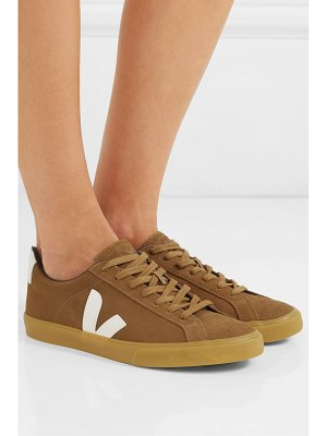 VEJA net sustain esplar leather-trimmed suede sneakers