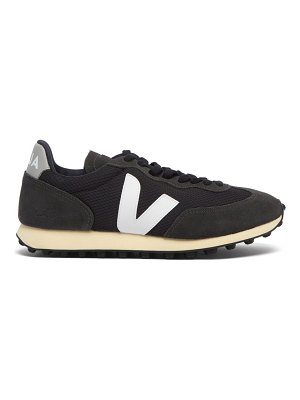 VEJA rio branco suede-panelled mesh trainers