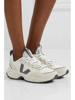VEJA venturi suede and leather-trimmed mesh sneakers