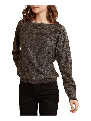 Velvet Abril Metallic Long-Sleeve Top