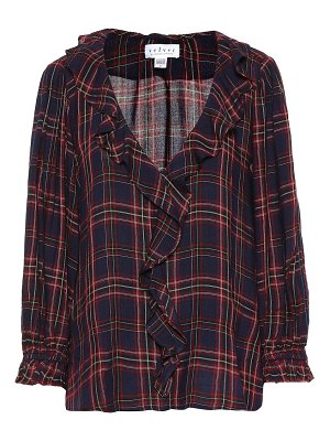 Velvet addison checked blouse