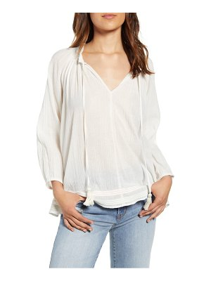 Velvet by Graham & Spencer gauze peasant top