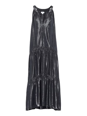 Velvet jorja metallic midi dress