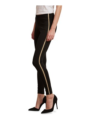 Velvet Raquel Metallic Tuxedo Stripe Leggings