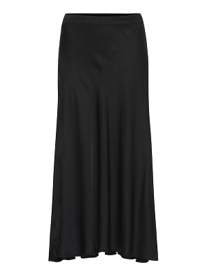 Velvet shelby satin midi skirt