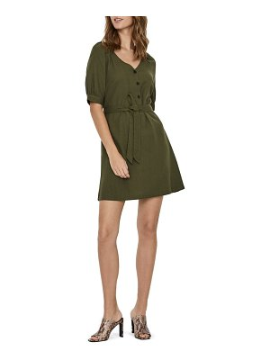 Vero Moda day puff sleeve linen blend minidress