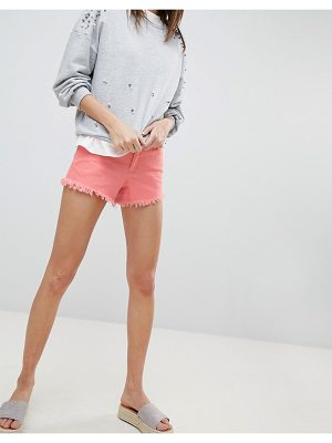 Vero Moda Distressed Frayed Denim Shorts