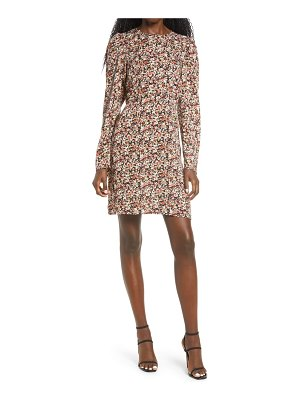 Vero Moda elita long sleeve floral print dress