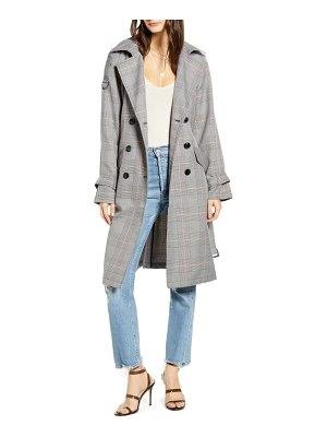 Vero Moda nele windowpane plaid trench coat