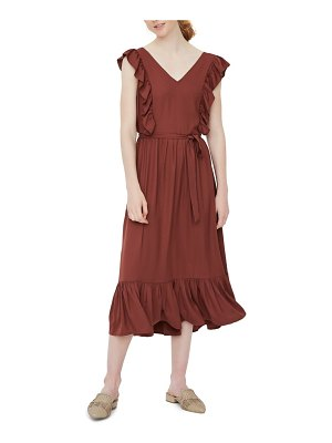 Vero Moda odette ruffle midi dress