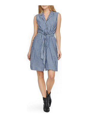 Vero Moda sandy stripe sleeveless organic cotton shirtdress