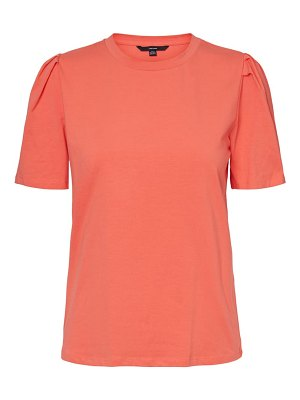 Vero Moda sussi pleated sleeve t-shirt