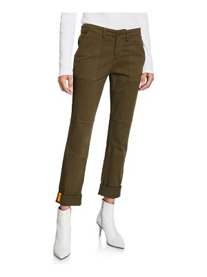 Veronica Beard Adrina Skinny Army Pants with Cuffs