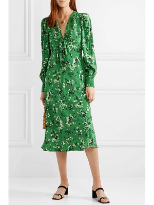 Veronica Beard amber floral-print silk-blend midi dress