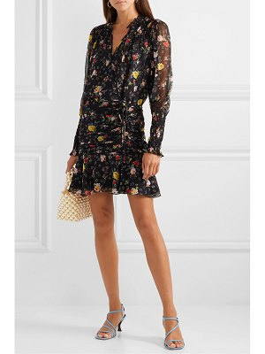 Veronica Beard armeria wrap-effect floral-print silk-georgette mini dress